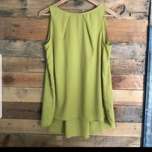 Mango Suit sleeveless high-low crêpe top - sz US6